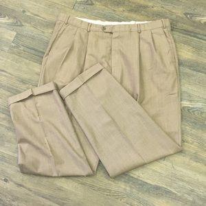 """PROFILO"" mens tan linen pants. Classic styling !"